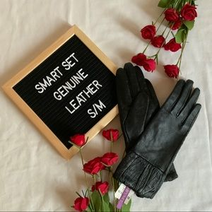 ✨Host Pick✨NWOT Smart Set Leather Gloves Black S/M